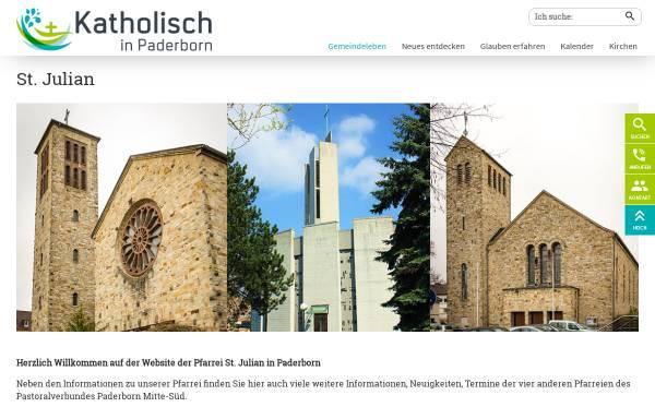 Vorschau von www.julian-paderborn.de, Kath. Pfarrei St. Julian Paderborn