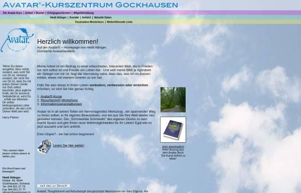 Vorschau von www.attinger.info, Avatar-Kurszentrum Gockhausen