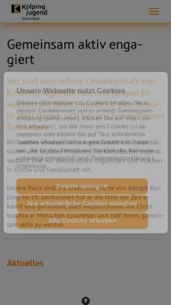 Vorschau der mobilen Webseite www.kolpingjugend.de, Kolpingjugend St. Heinrich