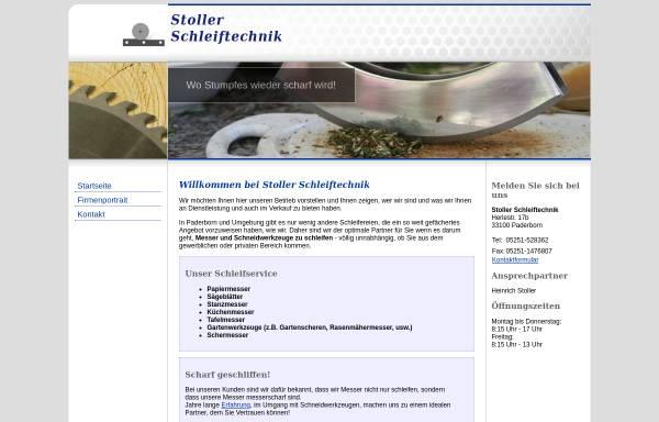 Vorschau von www.stoller-schleiftechnik.de, Stoller Schleiftechnik