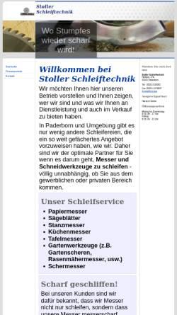 Vorschau der mobilen Webseite www.stoller-schleiftechnik.de, Stoller Schleiftechnik