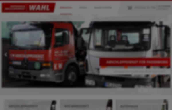 Vorschau von www.abschleppdienst-wahl.de, Autohaus Wahl GmbH