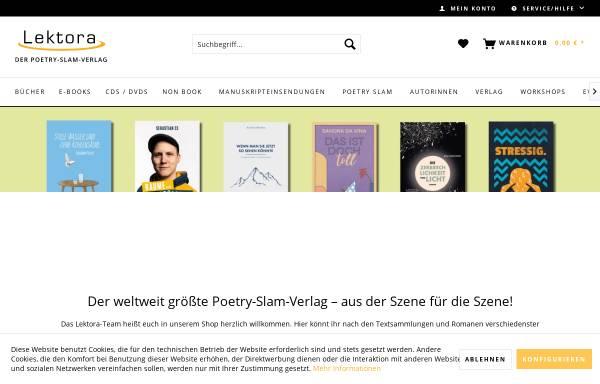 Vorschau von www.lektora-verlag.de, Lektora GmbH