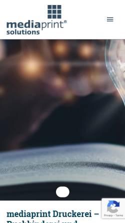 Vorschau der mobilen Webseite mediaprint.de, Media-Print Informationstechnologie GmbH