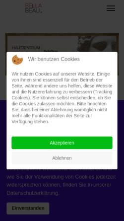 Vorschau der mobilen Webseite www.hautzentrum-paderborn.de, Hautzentrum BellaBeau