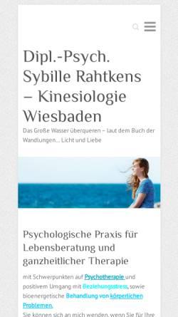 Vorschau der mobilen Webseite www.psycho-beratung-astro.de, Dipl. Psych. Sybille Rahtkens