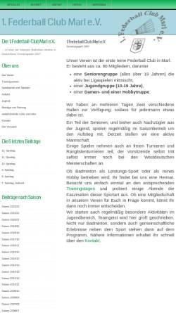 Vorschau der mobilen Webseite www.fbc-marl.de, 1. Federballclub Marl e.V. 1957