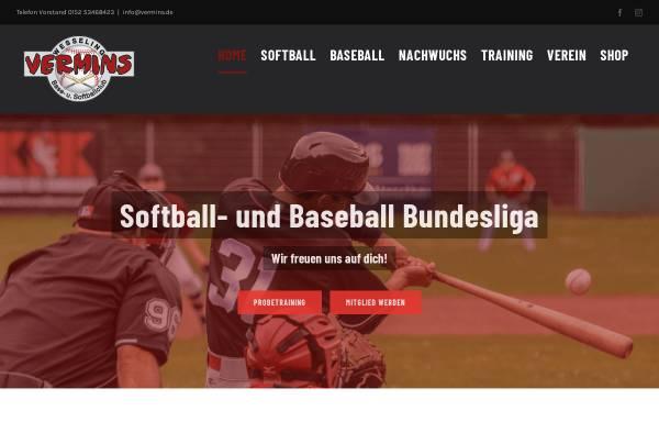 Vorschau von www.vermins.de, Vermins Base- und Softballclub Wesseling e.V.