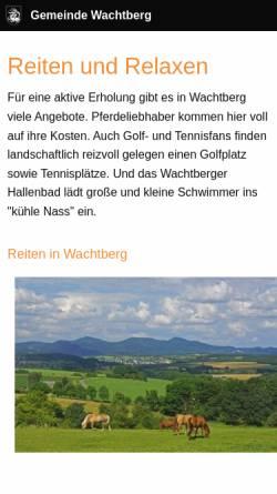 Vorschau der mobilen Webseite www.reiten-in-wachtberg.de, Reiten in Wachtberg