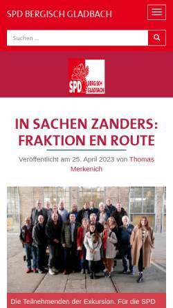 Vorschau der mobilen Webseite www.spd-gl.de, SPD Bergisch Gladbach