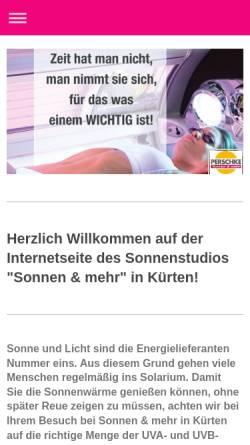 Vorschau der mobilen Webseite www.sonnenstudio-perschke.de, Sonnenstudio Perschke