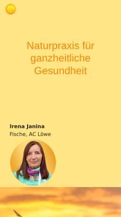 Vorschau der mobilen Webseite www.naturpraxis-starosta.de, Irena Starosta