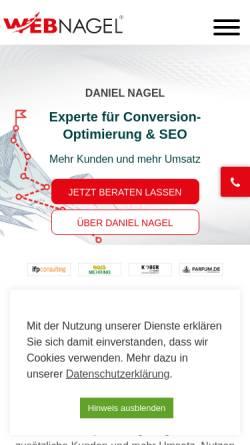 Vorschau der mobilen Webseite www.webnagel.de, Webdesign Webnagel, Daniel Nagel