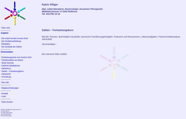Vorschau von www.katrinvilliger.ch, Katrin Villiger
