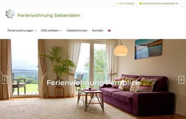 Vorschau von www.ferienwohnung-siebenstern.de, Ferienwohnung Siebenstern am Hohen Venn