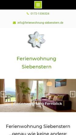 Vorschau der mobilen Webseite www.ferienwohnung-siebenstern.de, Ferienwohnung Siebenstern am Hohen Venn