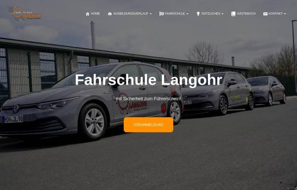 Vorschau von www.fahrschule-langohr.de, Fahrschule Langohr