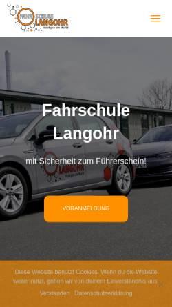 Vorschau der mobilen Webseite www.fahrschule-langohr.de, Fahrschule Langohr