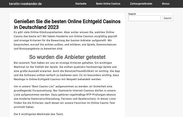 Vorschau von www.kerstin-rossbander.de, Kerstin Rossbander - Mediale Lebensberatung
