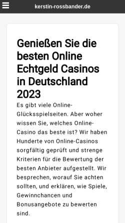 Vorschau der mobilen Webseite www.kerstin-rossbander.de, Kerstin Rossbander - Mediale Lebensberatung