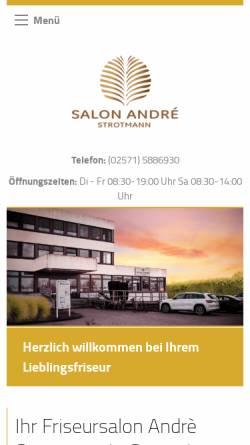Vorschau der mobilen Webseite www.salon-andre.de, Salon André, André Strotmann