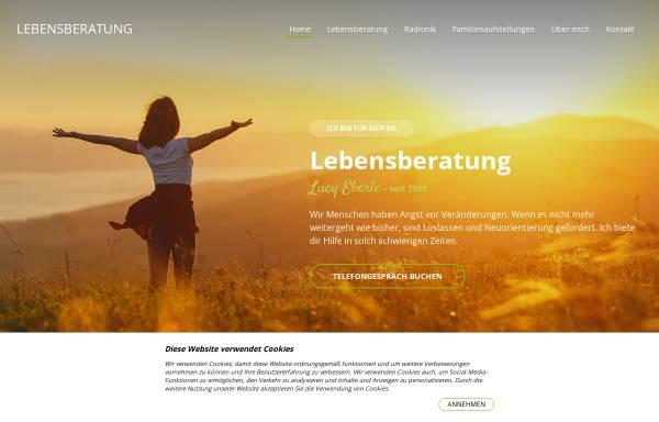 Vorschau von www.lebensberatung.ch, Lebensberatung Lucy Eberle