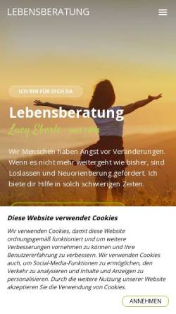 Vorschau der mobilen Webseite www.lebensberatung.ch, Lebensberatung Lucy Eberle