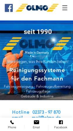 Vorschau der mobilen Webseite www.olmo.de, OLMO Reinigungstechnik GmbH