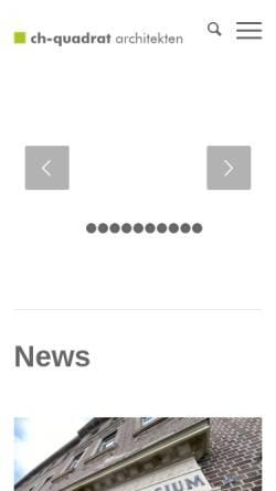 Vorschau der mobilen Webseite www.ch-quadrat.de, Ch-Quadrat Architekten
