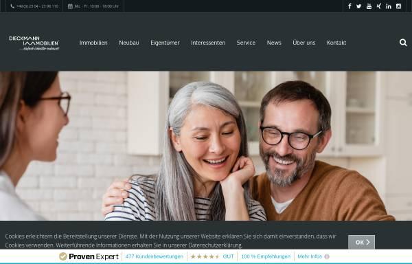 Vorschau von dieckmann-immobilien.de, Dieckmann Immobilien GmbH