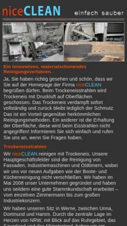 Vorschau der mobilen Webseite www.niceclean.de, NiceCLEAN
