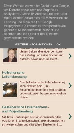 Vorschau der mobilen Webseite www.lonebech.blogspot.com, Lone Bech