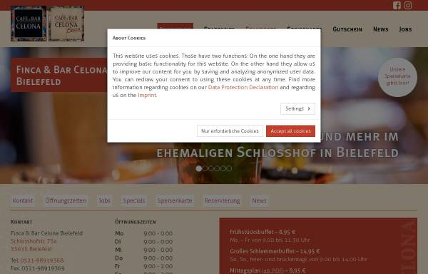 Vorschau von celona.de, Finca & Bar Celona