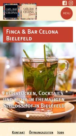 Vorschau der mobilen Webseite celona.de, Finca & Bar Celona