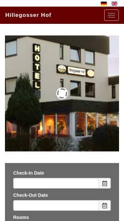 Vorschau der mobilen Webseite www.hillegosser-hof.de, Hotel Hillegosser Hof