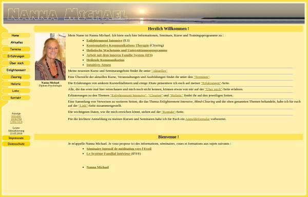 Vorschau von www.nanna-michael.de, Nanna Michael
