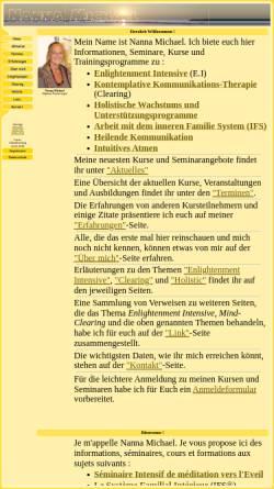 Vorschau der mobilen Webseite www.nanna-michael.de, Nanna Michael