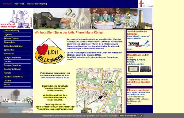 Vorschau von www.maria-koenigin-bielefeld.de, Kath. Pfarrei Maria Königin Bielefeld