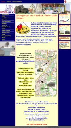 Vorschau der mobilen Webseite www.maria-koenigin-bielefeld.de, Kath. Pfarrei Maria Königin Bielefeld