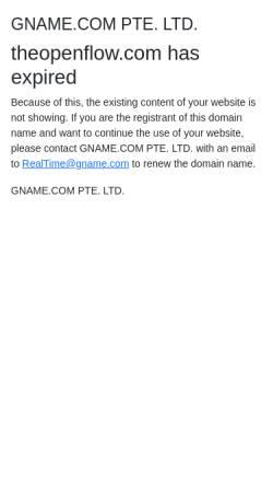 Vorschau der mobilen Webseite www.theopenflow.com, The Open Flow