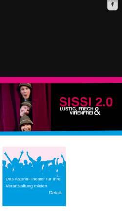 Vorschau der mobilen Webseite www.astoria-theater.de, Niekamps Astoria Theater