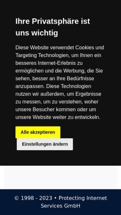 Vorschau der mobilen Webseite judicialis.de, Aktuelle Rechtsprechung aller Bundes- und Oberlandesgerichte