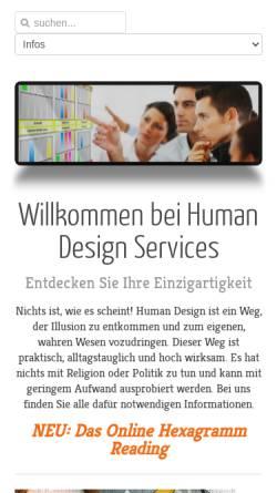 Vorschau der mobilen Webseite www.humandesignservices.de, Peter Schöber - Professional Human Design Services