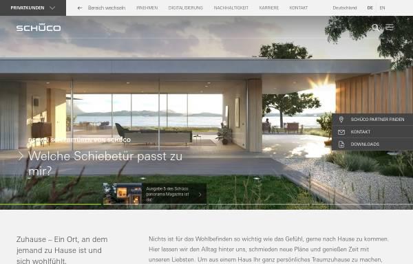 Vorschau von www.schueco.com, Schüco International