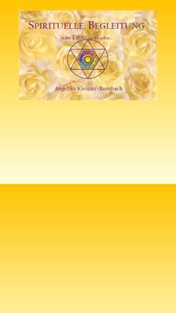 Vorschau der mobilen Webseite www.angelika-kreuzer-rombach.de, Praxis für Spirituelle Lebensberatung