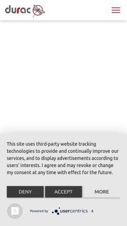 Vorschau der mobilen Webseite www.durac.de, durac GmbH & Co. KG
