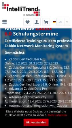 Vorschau der mobilen Webseite intellitrend.de, IntelliTrend GmbH