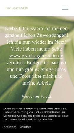 Vorschau der mobilen Webseite www.praxis-ganz-sein.de, Praxis Ganz Sein