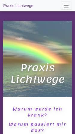 Vorschau der mobilen Webseite lichtwege.at, Praxis Lichtwege