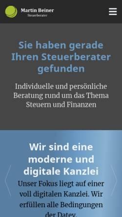 Vorschau der mobilen Webseite www.beiner-steuerberater.de, Steuerberater Martin Beiner
